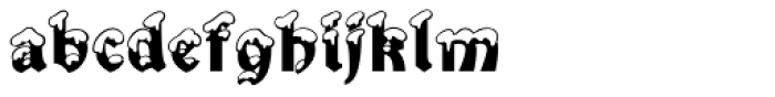 Snowgoose Font LOWERCASE