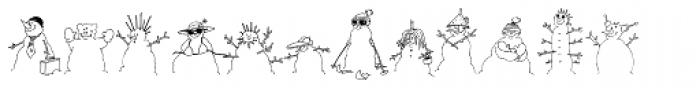 Snowmany Snowmen Font UPPERCASE