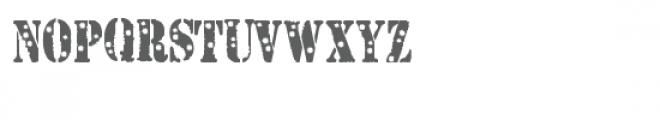 snf caution bullet riddled Font UPPERCASE