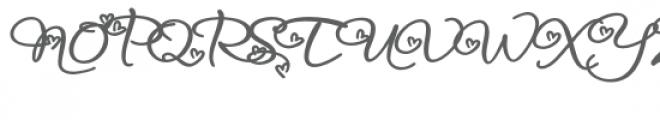 snf infinite love bold Font UPPERCASE