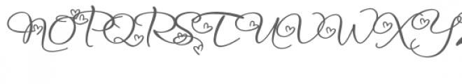 snf infinite love Font UPPERCASE