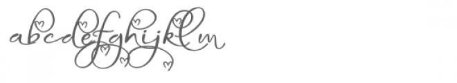 snf infinite love Font LOWERCASE