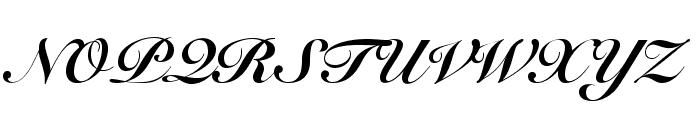 SnellRoundhandLTStd-BlkScr Font UPPERCASE