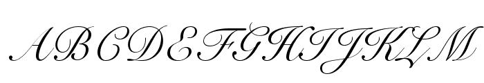 SnellRoundhandLTStd-Scr Font UPPERCASE