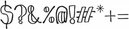 SoapySoap otf (400) Font OTHER CHARS