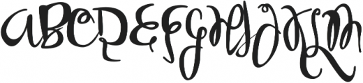 Sobbers Regular otf (400) Font UPPERCASE