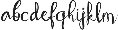 Sobbers Regular otf (400) Font LOWERCASE