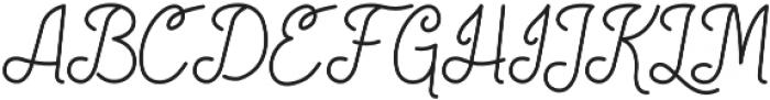 Society Script otf (400) Font UPPERCASE