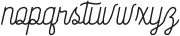 Society Script otf (400) Font LOWERCASE