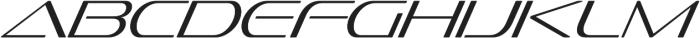 Sofachrome ExtraLight Italic otf (200) Font UPPERCASE