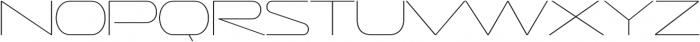Sofachrome UltraLight otf (300) Font UPPERCASE