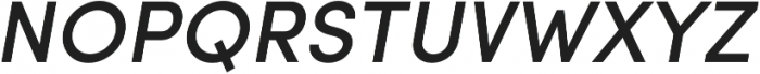 Sofia Pro Medium Italic otf (500) Font UPPERCASE
