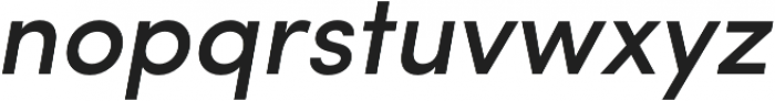 Sofia Pro Medium Italic otf (500) Font LOWERCASE