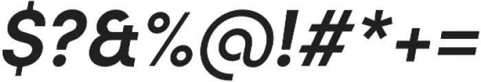 Sofia Pro Semi Bold Italic otf (600) Font OTHER CHARS