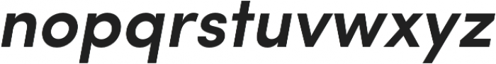 Sofia Pro Semi Bold Italic otf (600) Font LOWERCASE