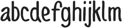 Sofia Rough Script Bold otf (700) Font LOWERCASE