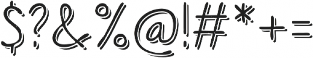 Sofia Rough Script One otf (400) Font OTHER CHARS