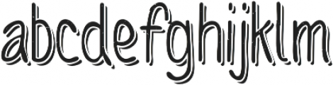Sofia Rough Script One otf (400) Font LOWERCASE