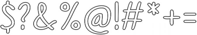Sofia Rough Script Outline otf (400) Font OTHER CHARS