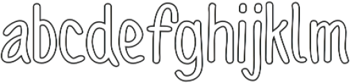 Sofia Rough Script Outline otf (400) Font UPPERCASE
