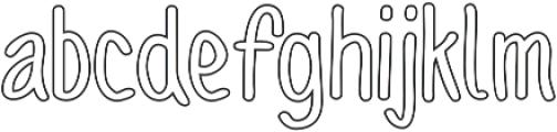 Sofia Rough Script Outline otf (400) Font LOWERCASE
