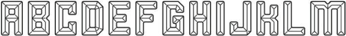 Soft Facets Regular otf (400) Font LOWERCASE