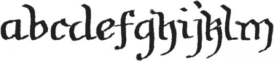Soft Notes SVG ttf (400) Font LOWERCASE