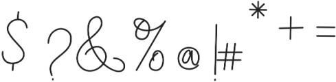 Soft Whisperings Regular otf (400) Font OTHER CHARS