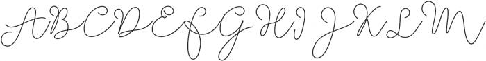 Soft Whisperings Regular otf (400) Font UPPERCASE