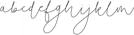 Soft Whisperings Regular otf (400) Font LOWERCASE