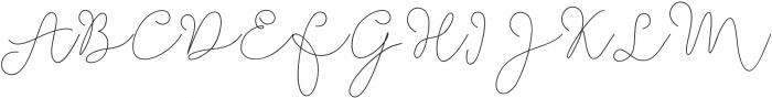 Soft Whisperings thin otf (100) Font UPPERCASE