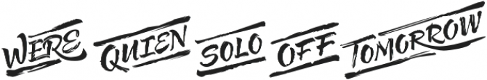 Solar Words otf (400) Font LOWERCASE