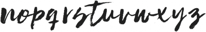 Solid ttf (400) Font LOWERCASE