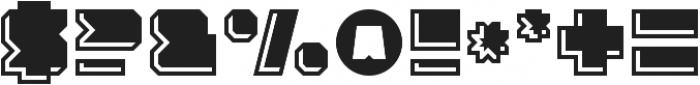 Solida Engraved Regular otf (400) Font OTHER CHARS