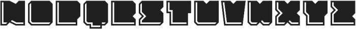 Solida Engraved Regular otf (400) Font LOWERCASE