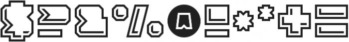 Solida Outline Engraved Regular otf (400) Font OTHER CHARS