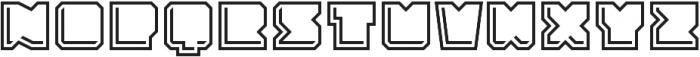 Solida Outline Engraved Regular otf (400) Font UPPERCASE