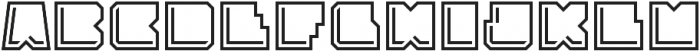 Solida Outline Engraved Regular otf (400) Font LOWERCASE