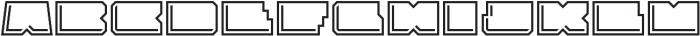 Solida Outline Engraved Wide Regular otf (400) Font LOWERCASE