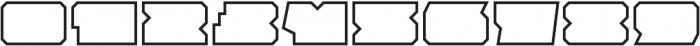 Solida Outline Wide Regular otf (400) Font OTHER CHARS