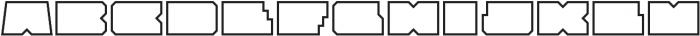 Solida Outline Wide Regular otf (400) Font UPPERCASE