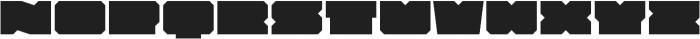 Solida Regular Wide Regular otf (400) Font LOWERCASE