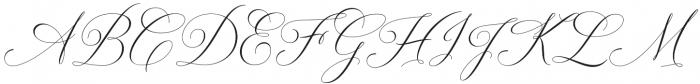 Solidaritha Script Regular otf (400) Font UPPERCASE