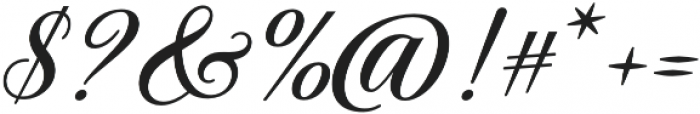 Solistaria Script Italic otf (400) Font OTHER CHARS