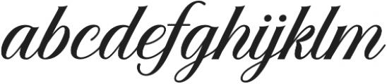 Solistaria Script Italic otf (400) Font LOWERCASE