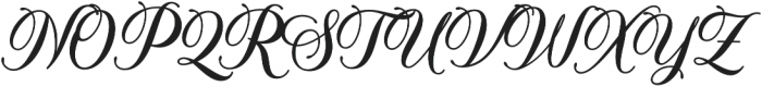 Solistaria Script Regular otf (400) Font UPPERCASE
