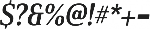 Solitas Serif Cond Bold It otf (700) Font OTHER CHARS