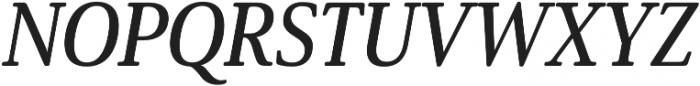 Solitas Serif Cond Demi It otf (400) Font UPPERCASE