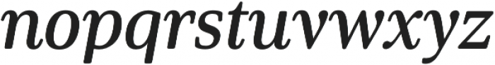 Solitas Serif Cond Demi It otf (400) Font LOWERCASE