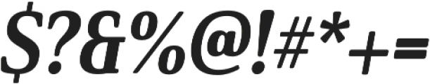 Solitas Serif Cond ExBold It otf (700) Font OTHER CHARS